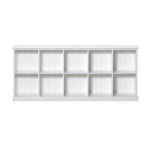 Bibliothèque 10 compartiments SEASIDE Oliver Furniture blanc