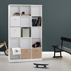 Bibliothèque 104x180cm WOOD Oliver Furniture blanc
