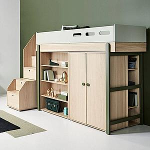 Bibliothèque 138x88cm POPSICLE Flexa chêne