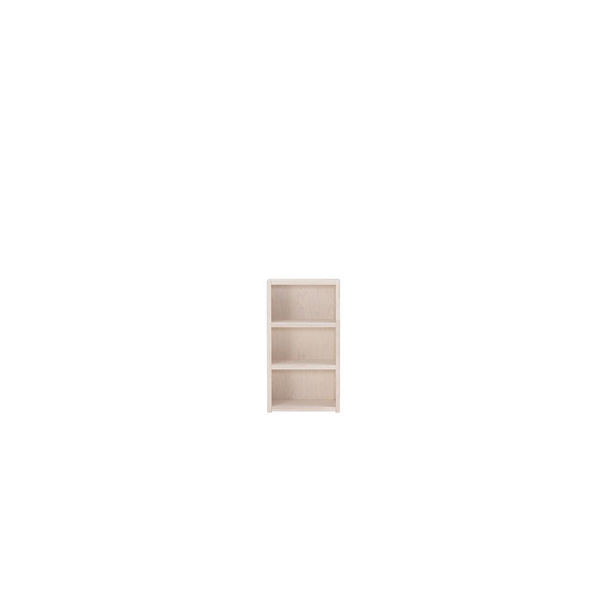 Bibliothèque 3 casiers Lifetime blanchi