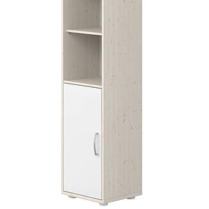 Bibliothèque 38x202cm 1 porte 3 tablettes CLASSIC Flexa blanc-blanchi
