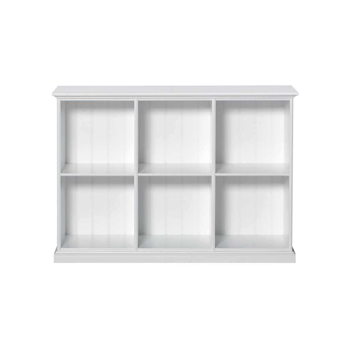 Bibliothèque 6 compartiments SEASIDE Oliver Furniture blanc