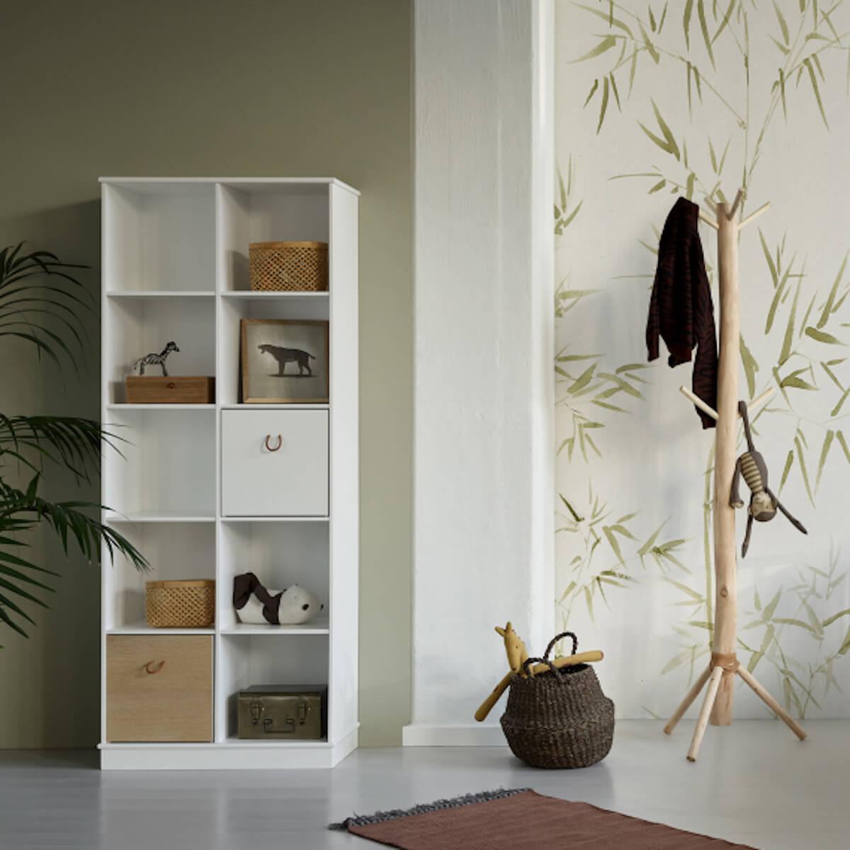 Bibliothèque 70x180cm WOOD Oliver Furniture blanc