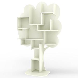 Bibliothèque arbre LOUANE Mathy by Bols beige ivoire