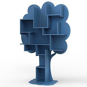 Bibliothèque arbre LOUANE Mathy by Bols bleu atlantique