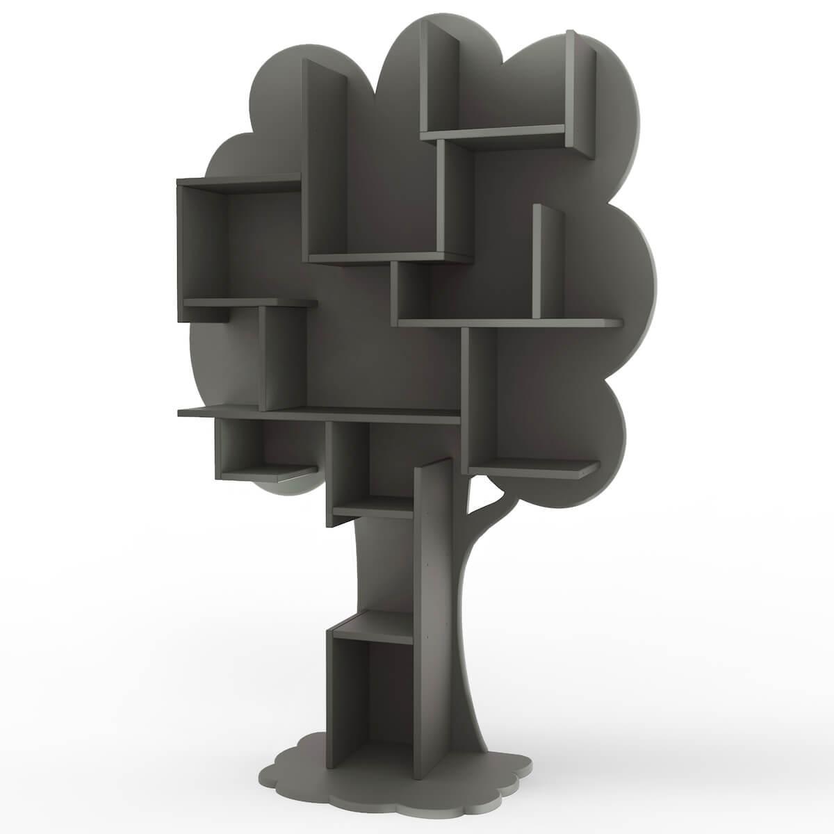 Bibliothèque arbre LOUANE Mathy by Bols gris basalte