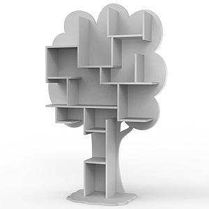 Bibliothèque arbre LOUANE Mathy by Bols gris ciment