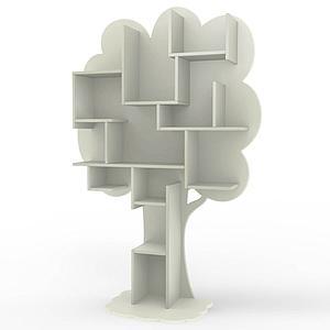 Bibliothèque arbre LOUANE Mathy by Bols gris mousse