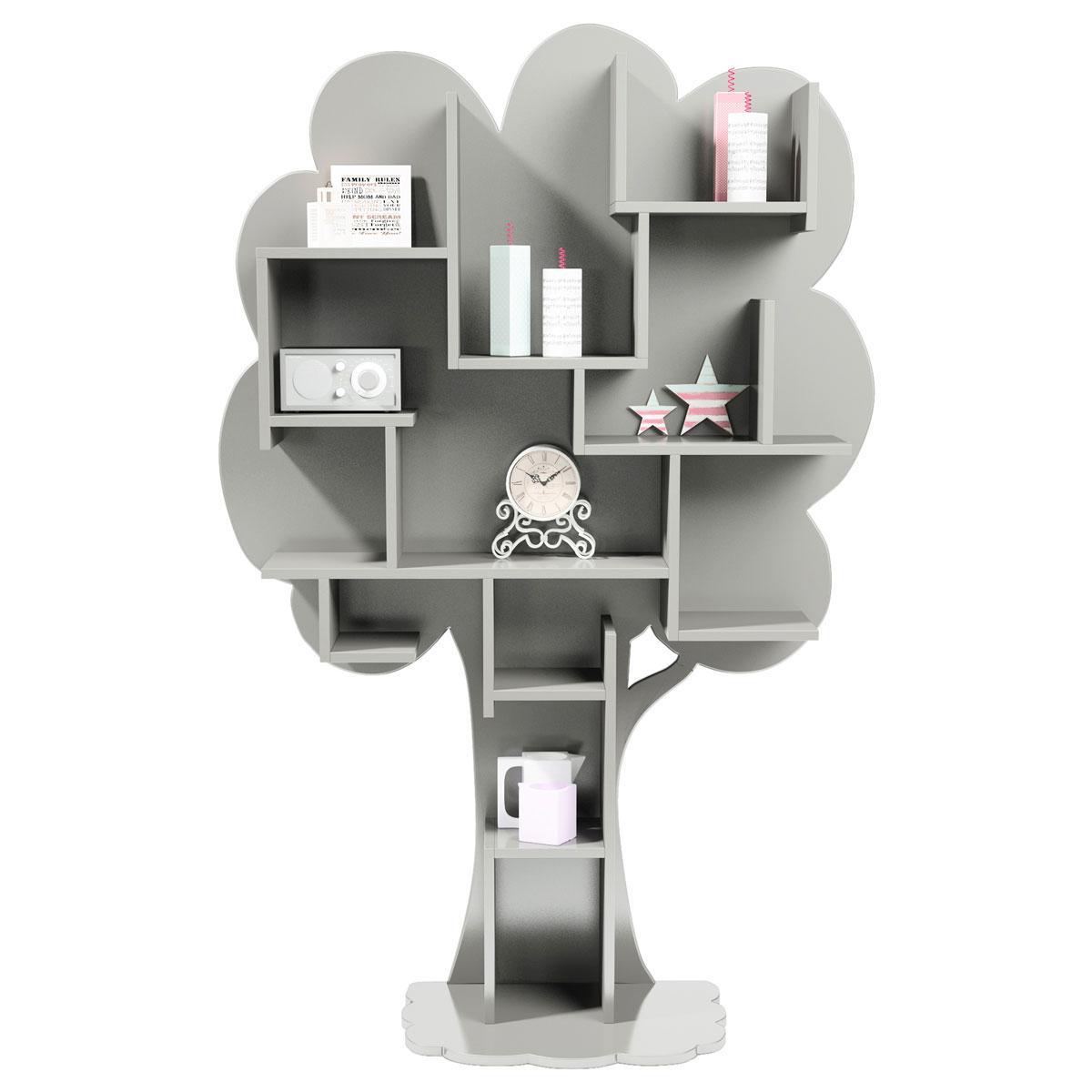 Bibliothèque arbre LOUANE Mathy by Bols gris perle