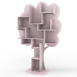 Bibliothèque arbre LOUANE Mathy by Bols rose hiver