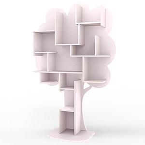 Bibliothèque arbre LOUANE Mathy by Bols rose poudré