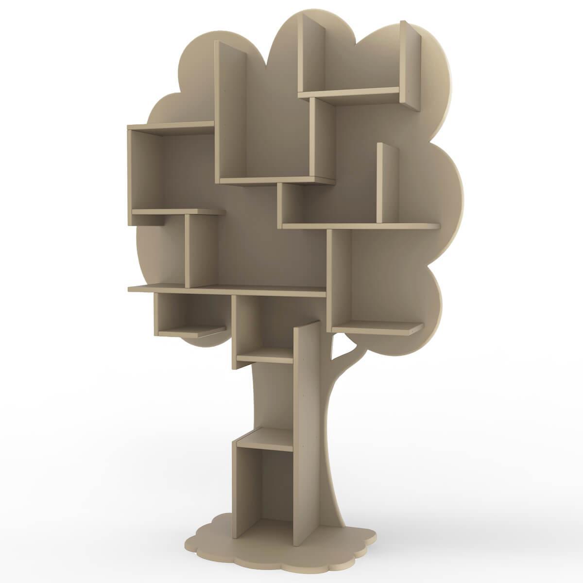 Bibliothèque arbre LOUANE Mathy by Bols taupe