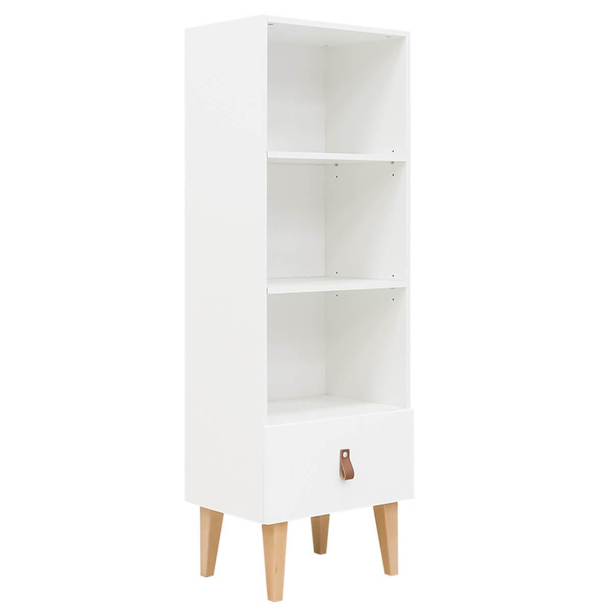 Bibliothèque INDY Bopita blanc-naturel