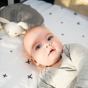 Bouillotte doudou lapin SNOOGY DOOMOO gris