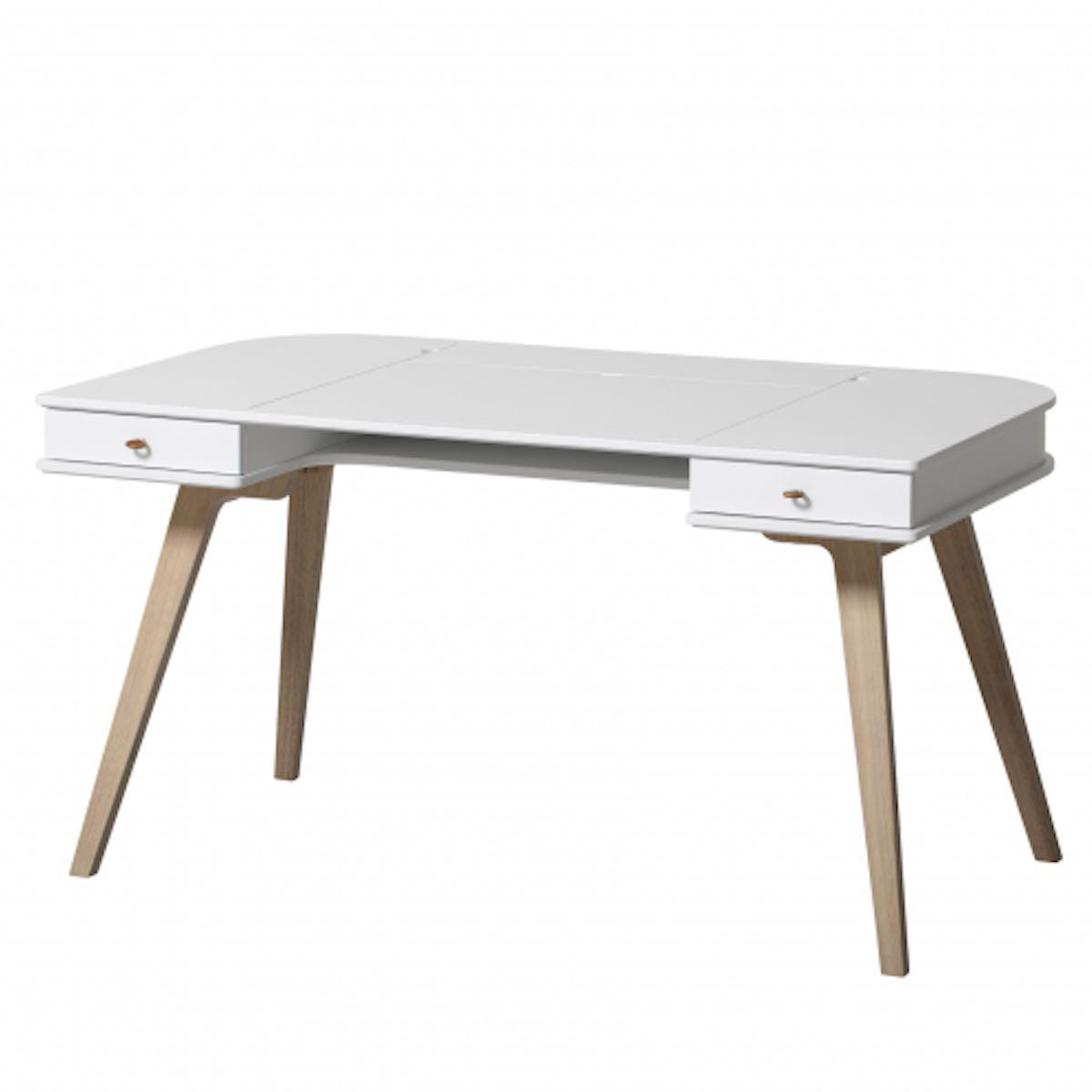 Bureau 66cm WOOD Oliver Furniture blanc-chêne