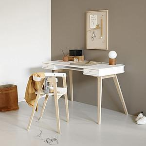 Bureau 72,6cm WOOD Oliver Furniture blanc-chêne