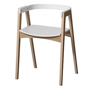 Bureau-chaise 66cm WOOD Oliver Furniture blanc-chêne