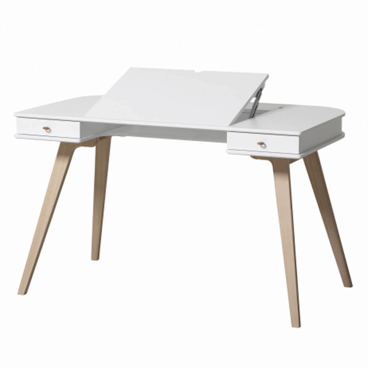 Bureau-chaise 72,6 cm WOOD Oliver Furniture blanc-chêne
