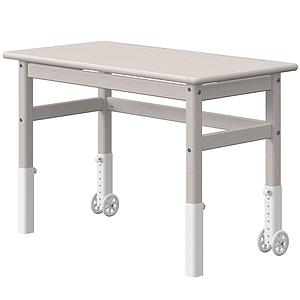Bureau enfant escamotable plateau inclinable CLASSIC Flexa blanc-grey washed