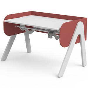 Bureau évolutif enfant WOODY Flexa blanc-misty rose