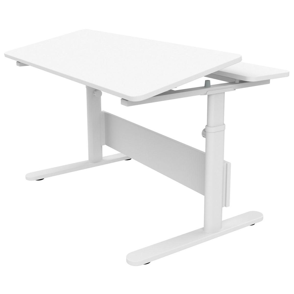 Bureau évolutif inclinable enfant EVO Flexa blanc