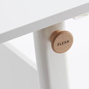 Bureau évolutif inclinable middle up MOBY Flexa blanc