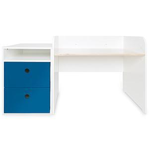 Bureau évolutif-petit meuble 2 tiroirs COLORFLEX Abitare Kids deep marine