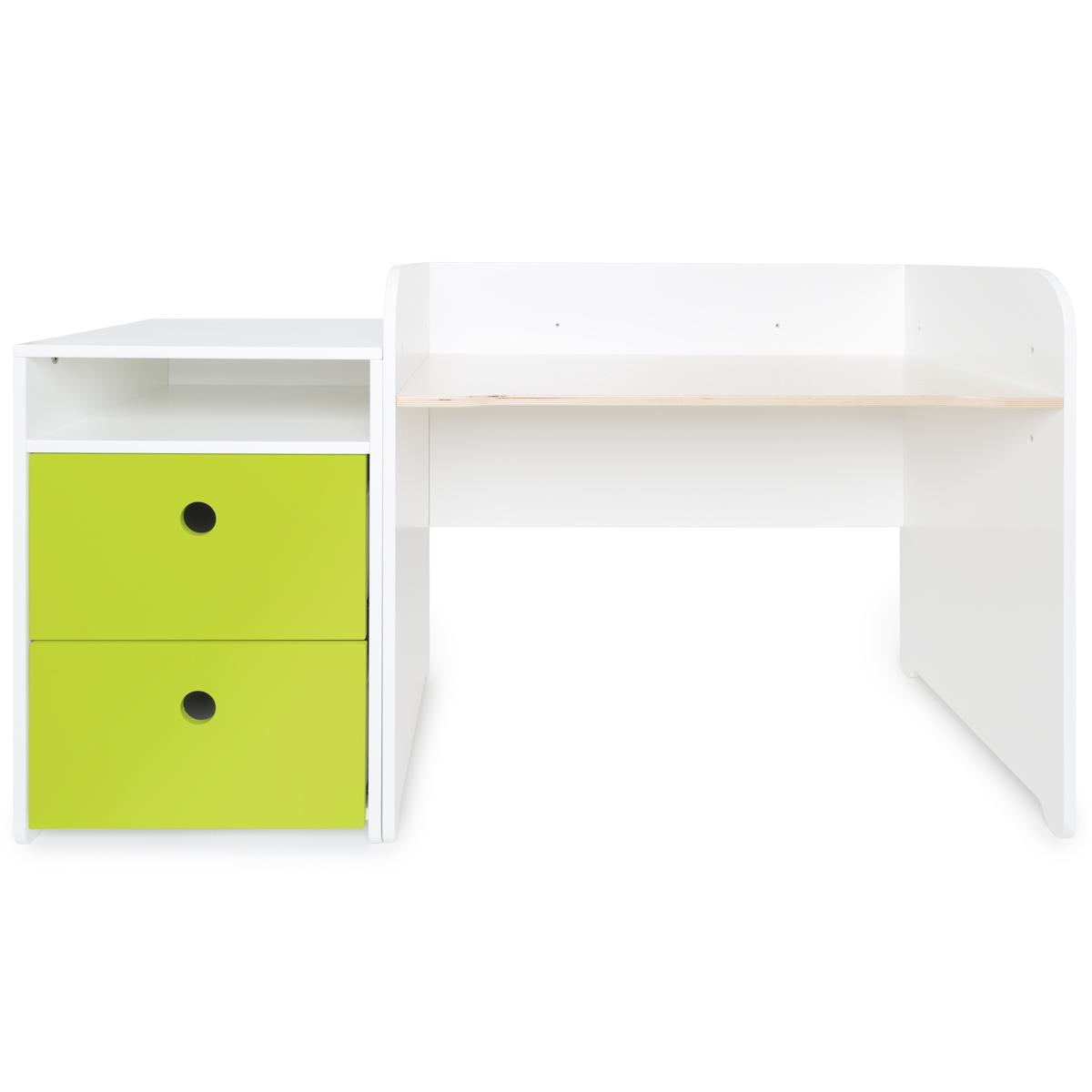 Bureau évolutif-petit meuble 2 tiroirs COLORFLEX Abitare Kids lime
