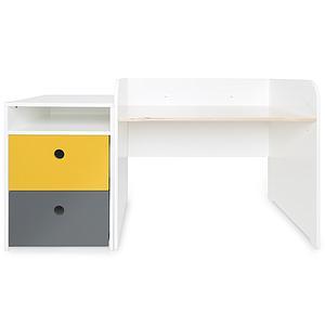 Bureau évolutif-petit meuble 2 tiroirs COLORFLEX Abitare Kids nectar yellow-space grey