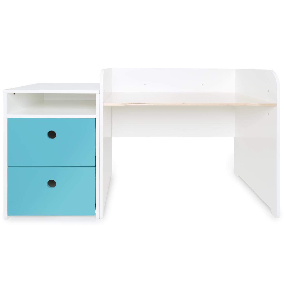 Bureau évolutif-petit meuble 2 tiroirs COLORFLEX Abitare Kids paradise blue