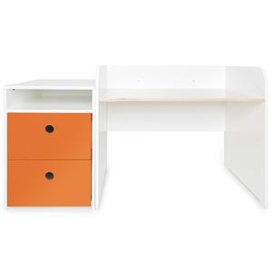 Bureau évolutif-petit meuble 2 tiroirs COLORFLEX Abitare Kids pure orange