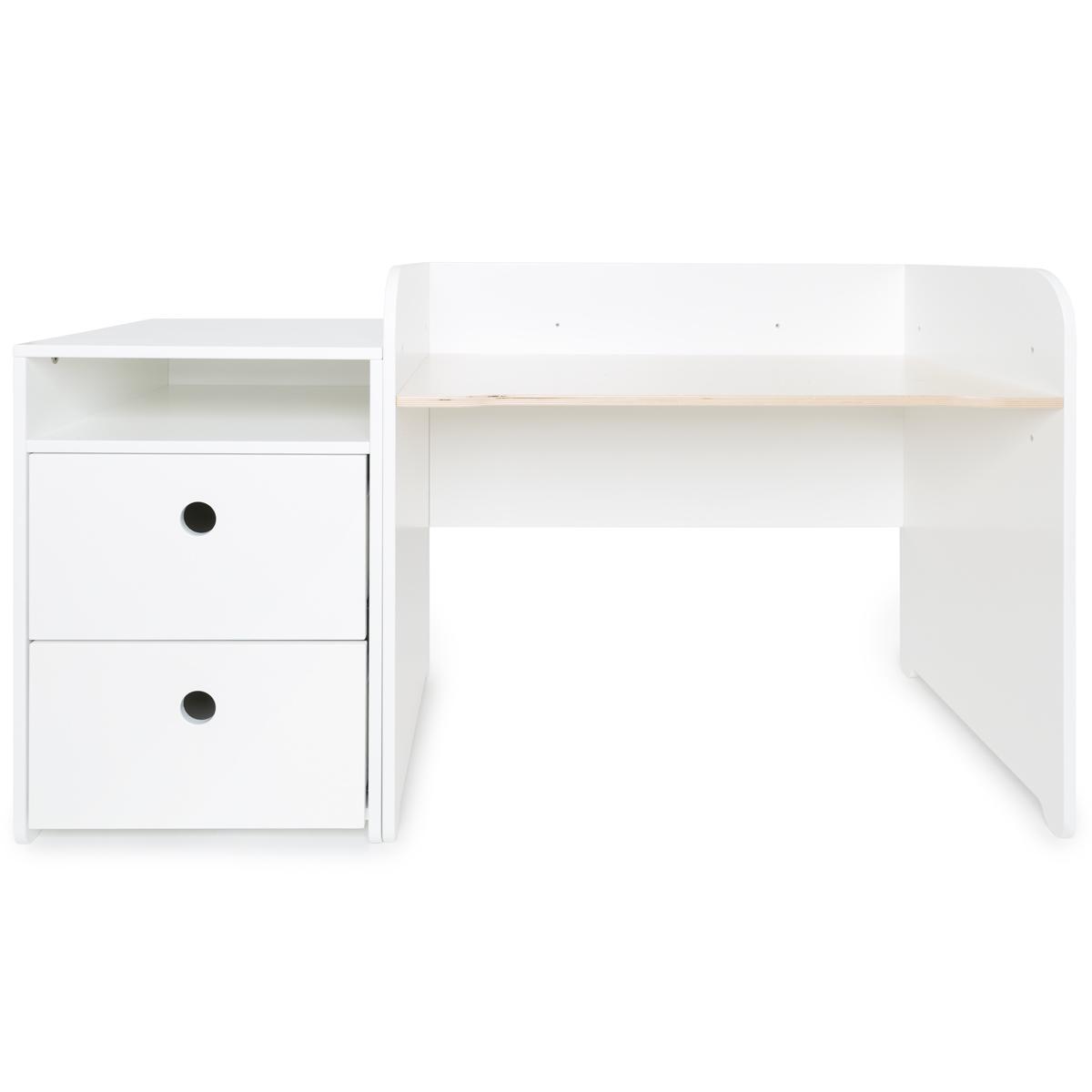 Bureau évolutif-petit meuble 2 tiroirs COLORFLEX Abitare Kids white