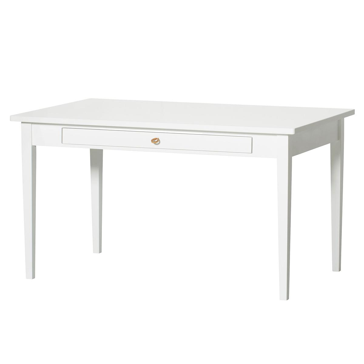 Bureau junior (poignées cuir) SEASIDE Oliver Furniture blanc