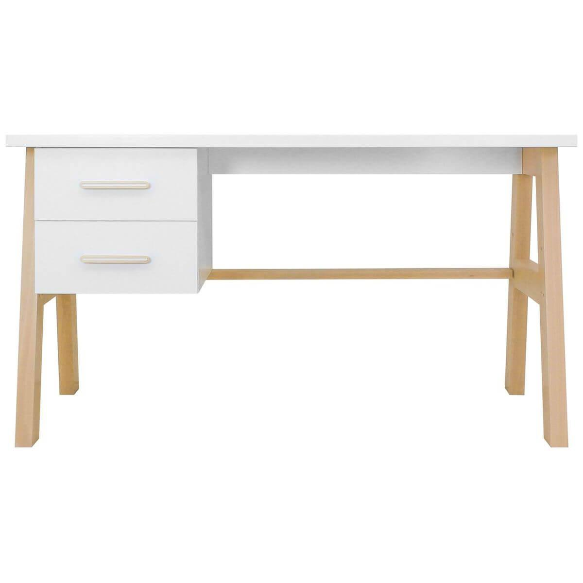 Bureau LISA Bopita blanc-naturel