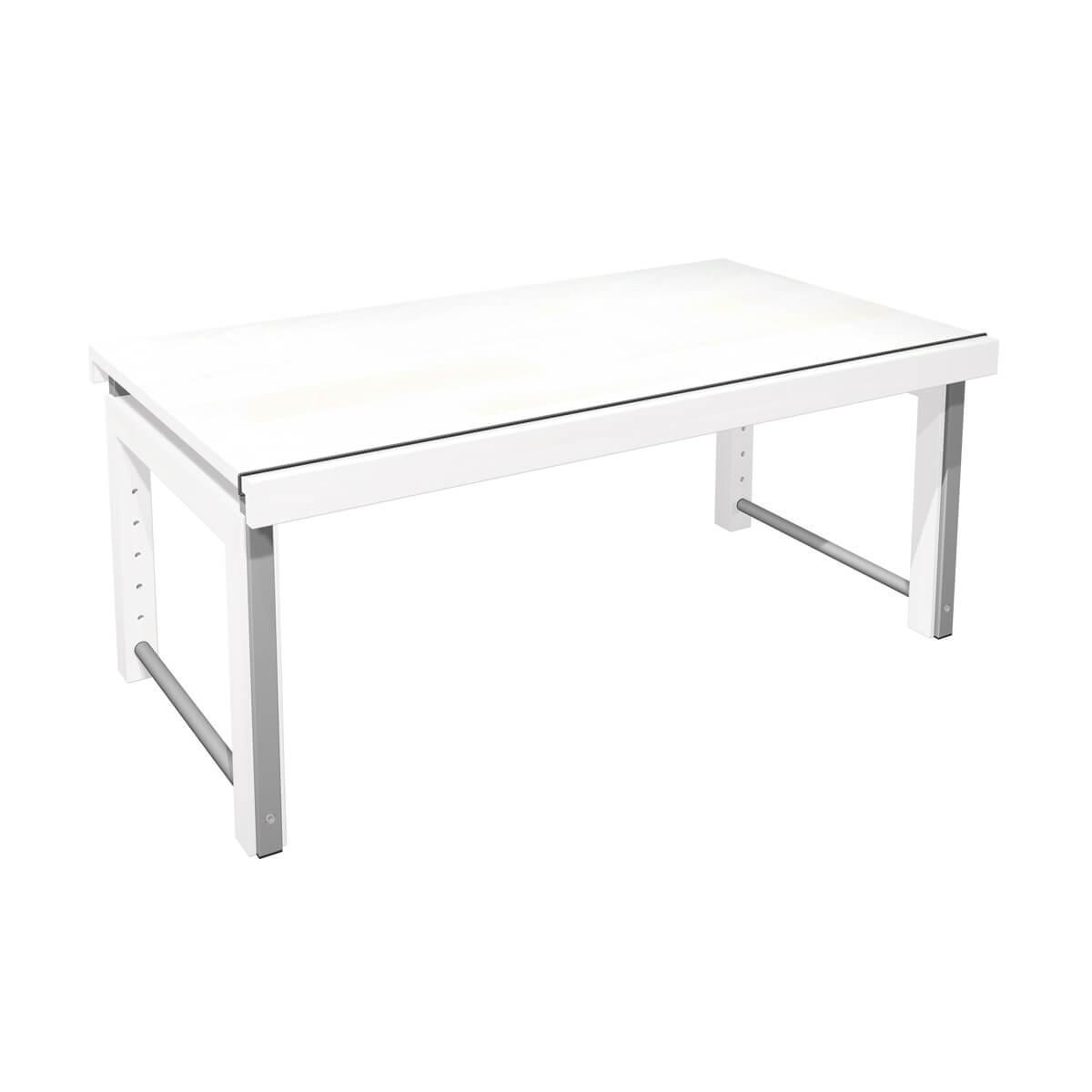 Bureau ZIGGY De Breuyn structure métal gris-pieds hêtre blanc-plateau blanc