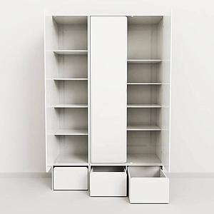CABBY by Flexa Armoire haute 1 porte Blanc