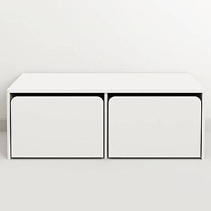 CABBY by Flexa Coffre 2 tiroirs Blanc