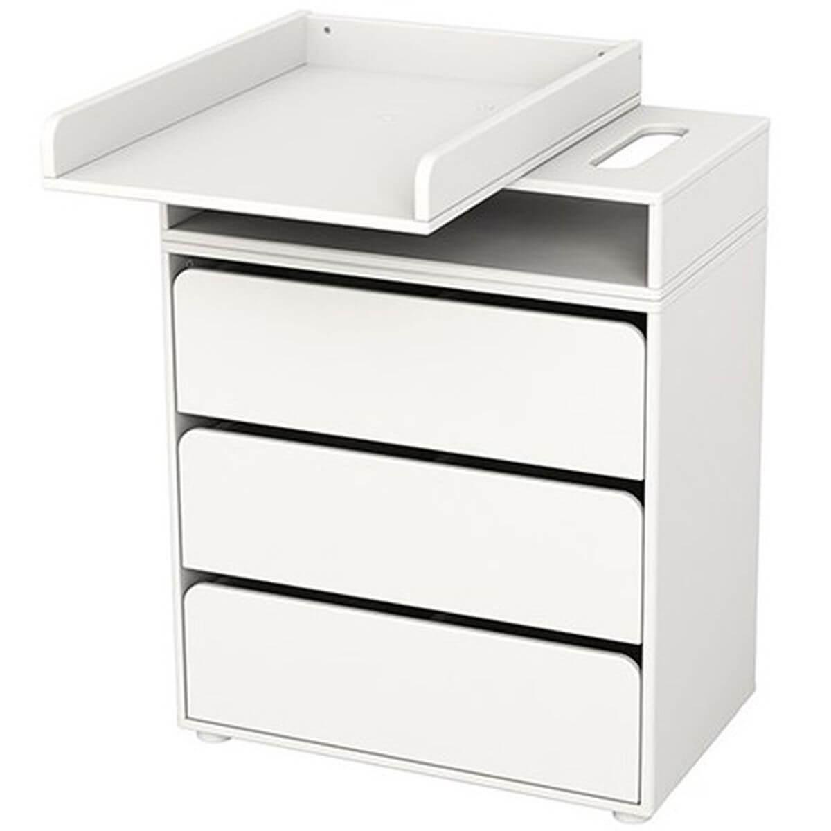 CABBY by Flexa Commode à langer 3 tiroirs Blanc