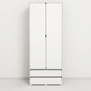 CABBY by Flexa Garde-robe haute 2 portes Blanc