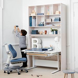 Chaise bureau 7-12Y NOVO Flexa light blue