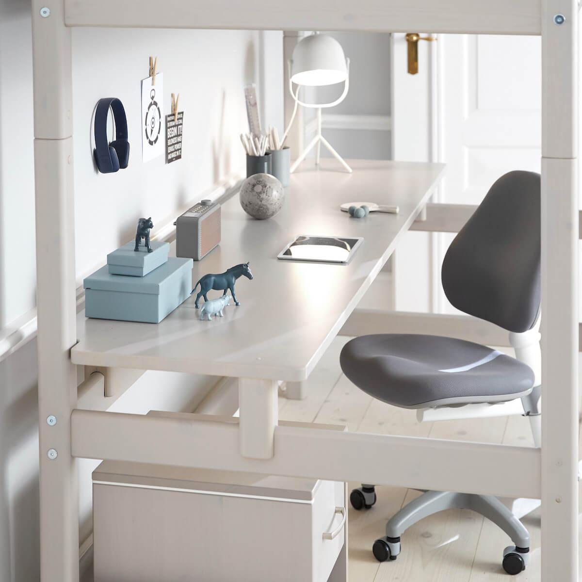 Chaise bureau 7-12Y NOVO Flexa light grey
