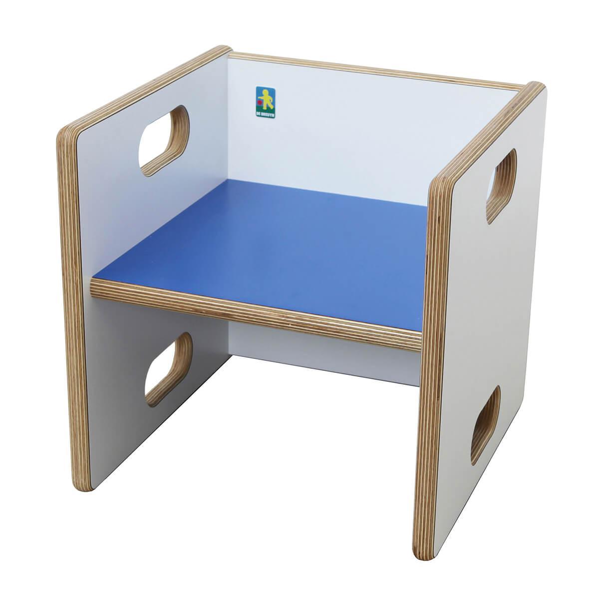 Chaise évolutive Ziggy de Breuyn blanc - bleu foncé
