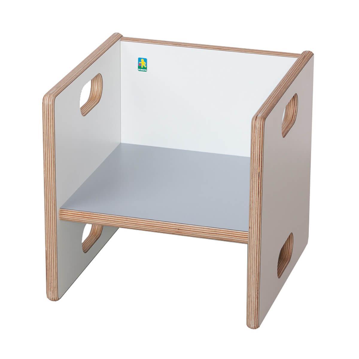 Chaise évolutive Ziggy de Breuyn Multiplex white HPL - seat grey