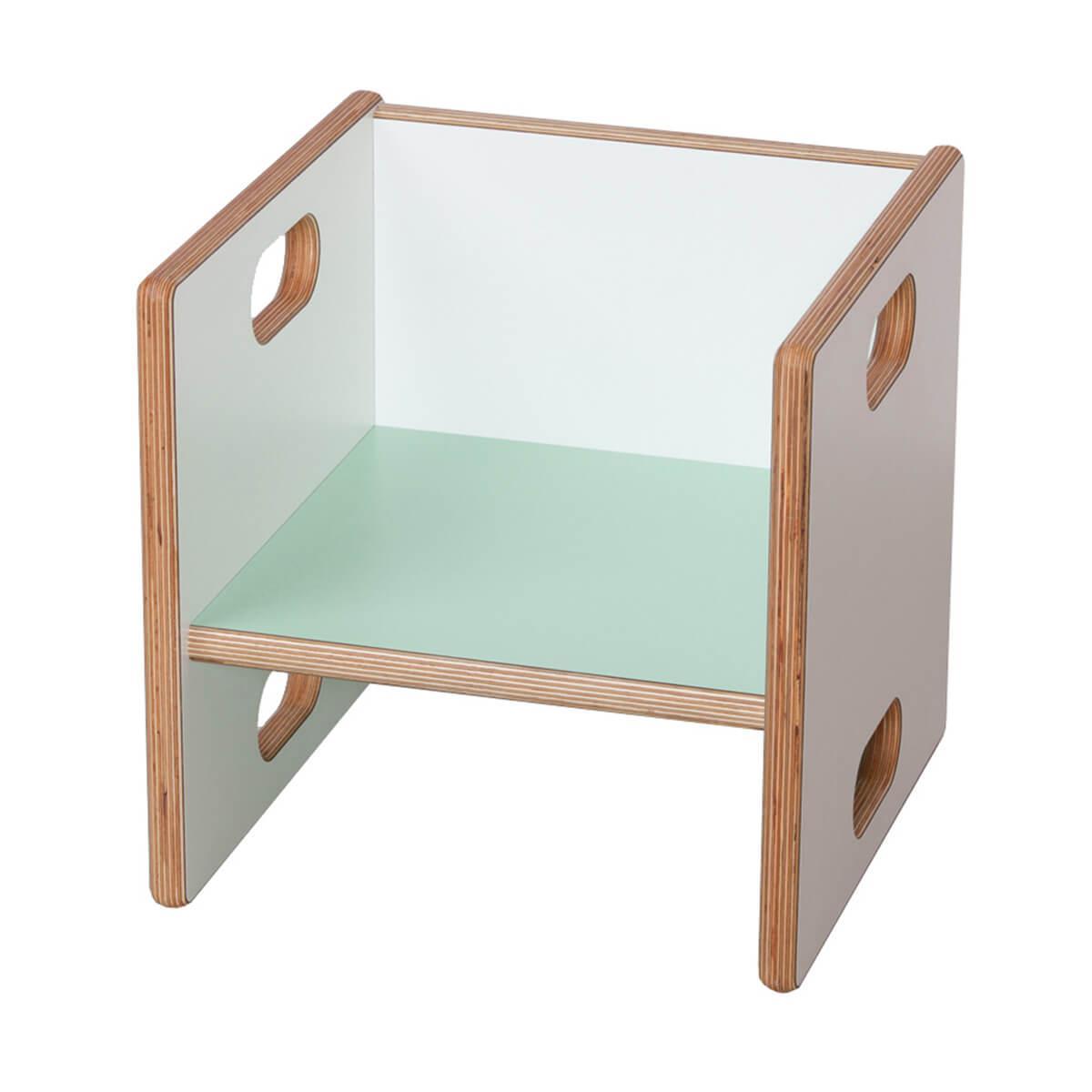 Chaise évolutive Ziggy de Breuyn Multiplex white HPL - seat mint