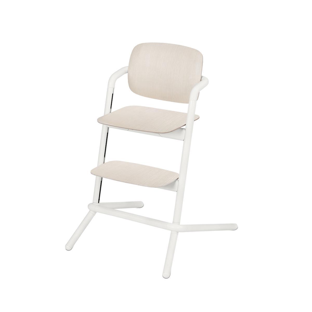 Chaise haute bois LEMO Cybex porcelaine white-white