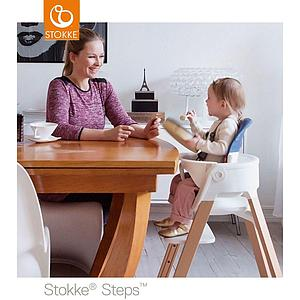 Chaise haute chêne STEPS Stokke noir
