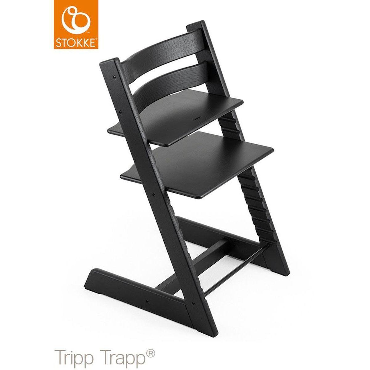 Chaise haute chêne TRIPP TRAPP Stokke noir