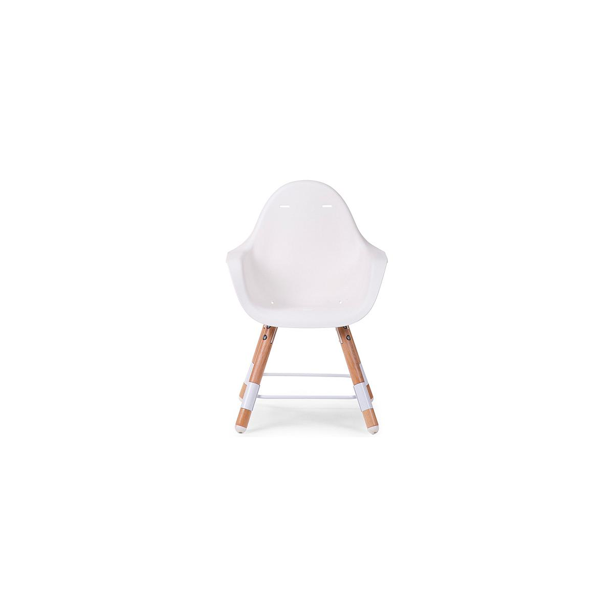 Chaise haute EVOLU 2 Childhome blanc-naturel