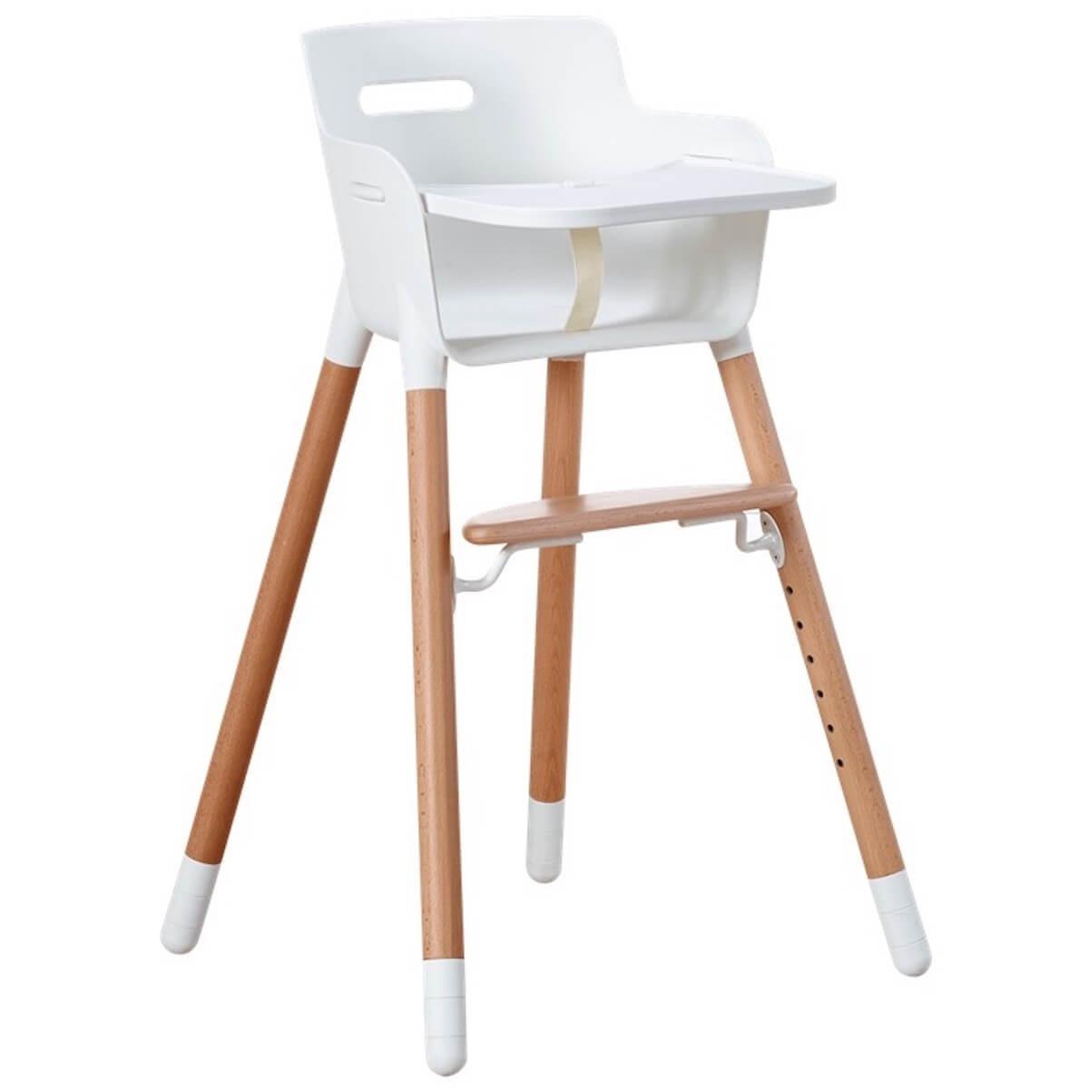 Chaise haute tablette BABY Flexa naturel-blanc