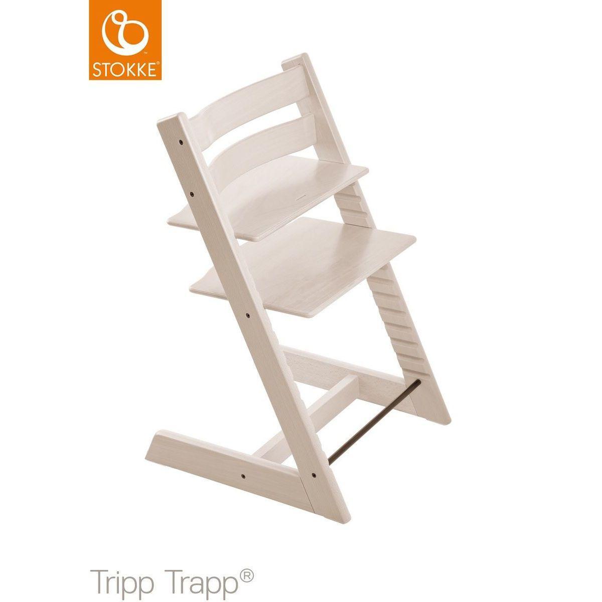 Chaise haute TRIPP TRAPP Stokke blanchi